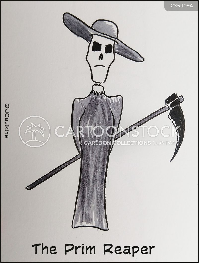 personification of death cartoon
