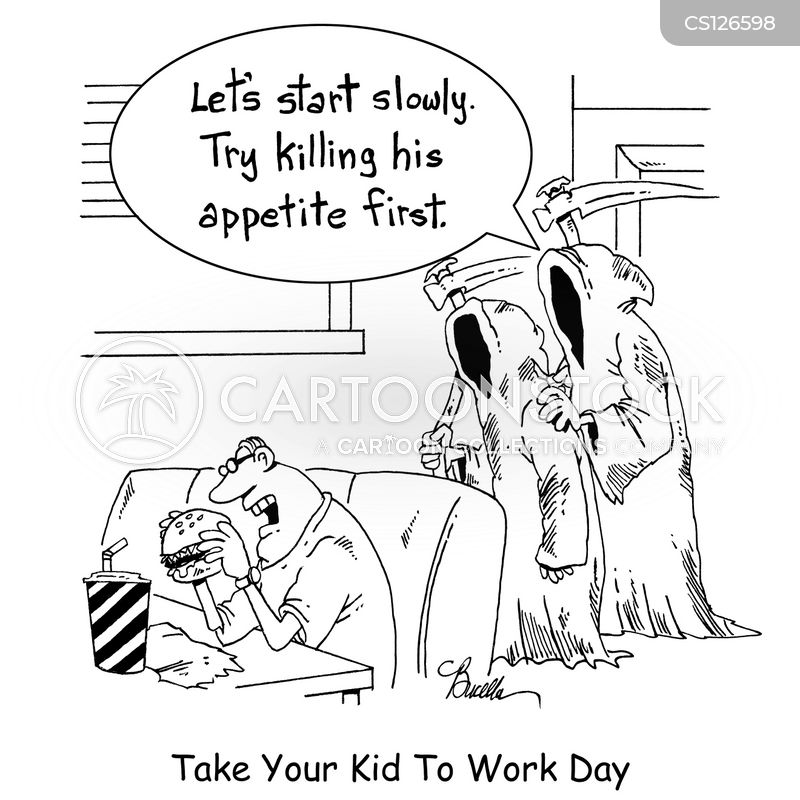 take your kid to work day cartoon