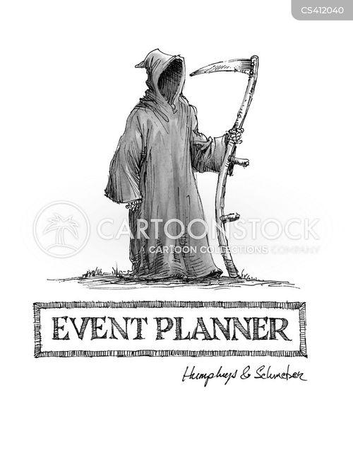 event planner cartoon