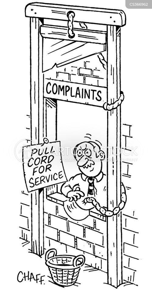 complaints desks cartoon