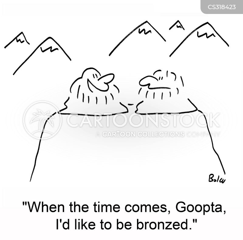 bronzing cartoon