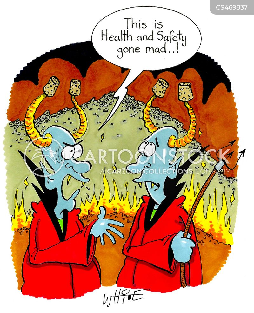 health and safety regulations cartoon