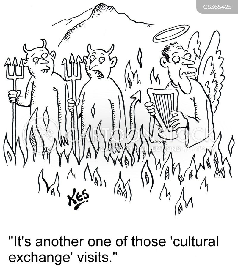 cultural exchanges cartoon