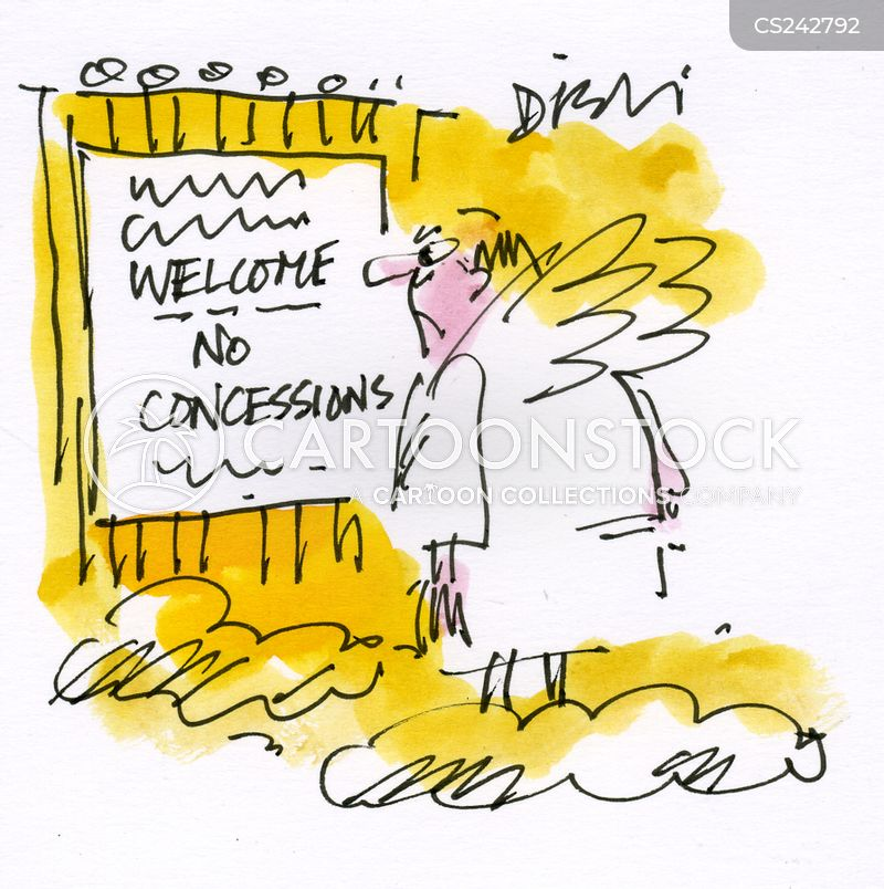 concession cartoon