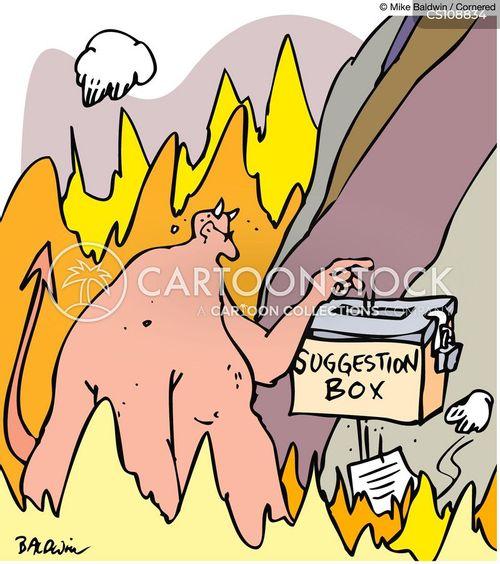 burning in hell cartoon