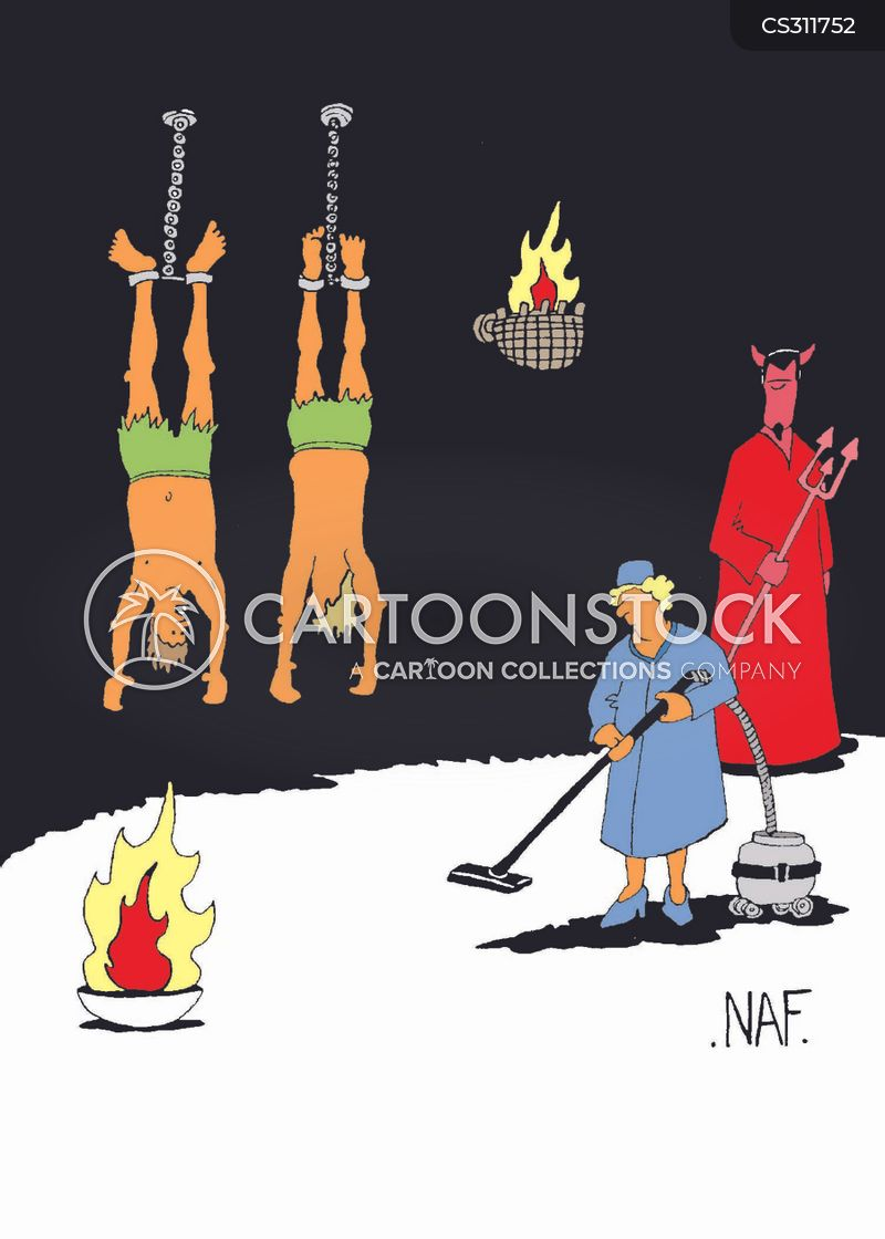 hoovering cartoon