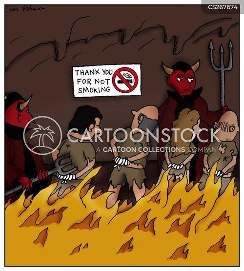 smoke free cartoon