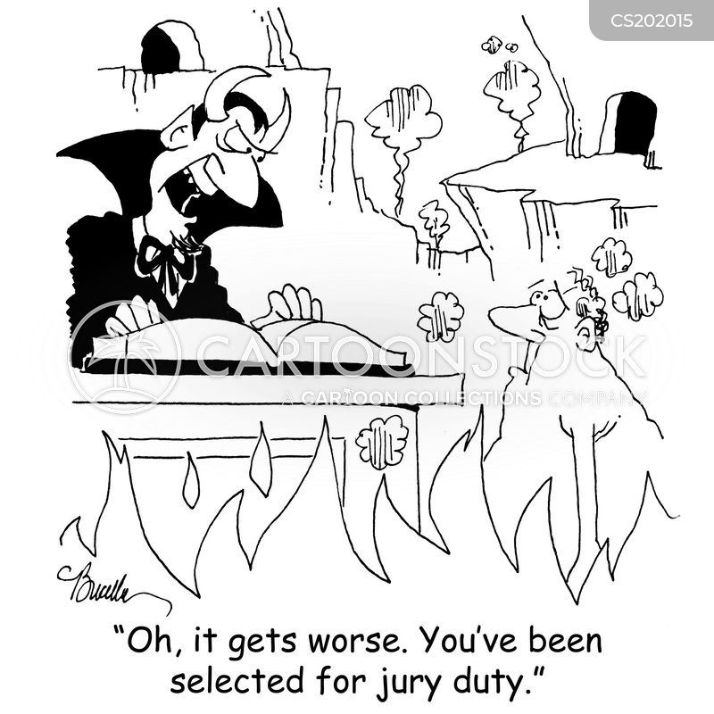 Selected For Jury Duty Cartoons and Comics - funny pictures