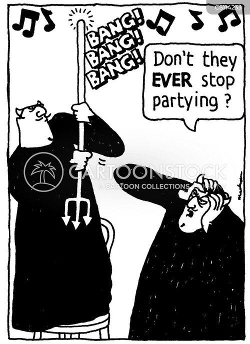 noisy neigbhour cartoon