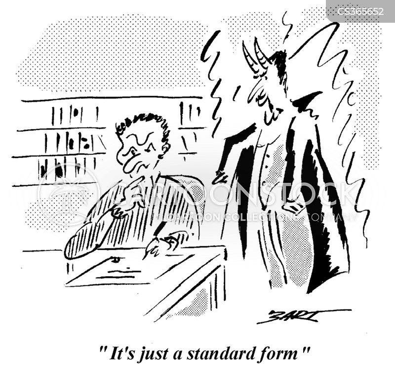 Standard Forms Cartoons And Comics Funny Pictures From Cartoonstock