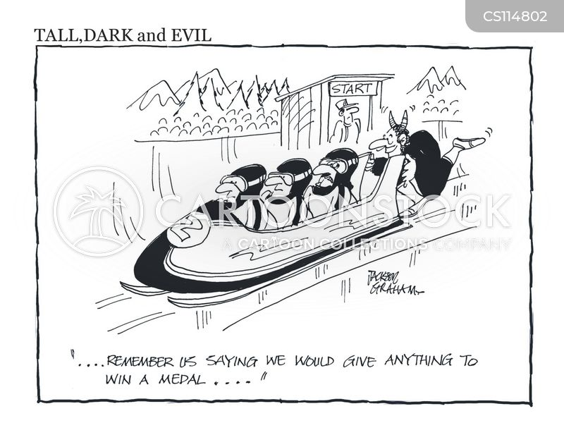 bobsleigh cartoon