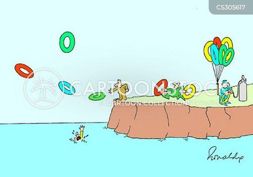 life ring cartoon