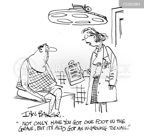 ingrowing toenails cartoon
