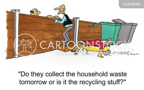household waste cartoon