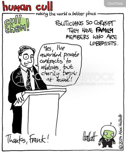 political lobby cartoon