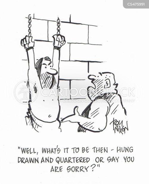 medieval torture cartoon