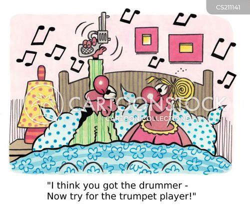 Cartoons Und Karikaturen Mit Schlagzeuger