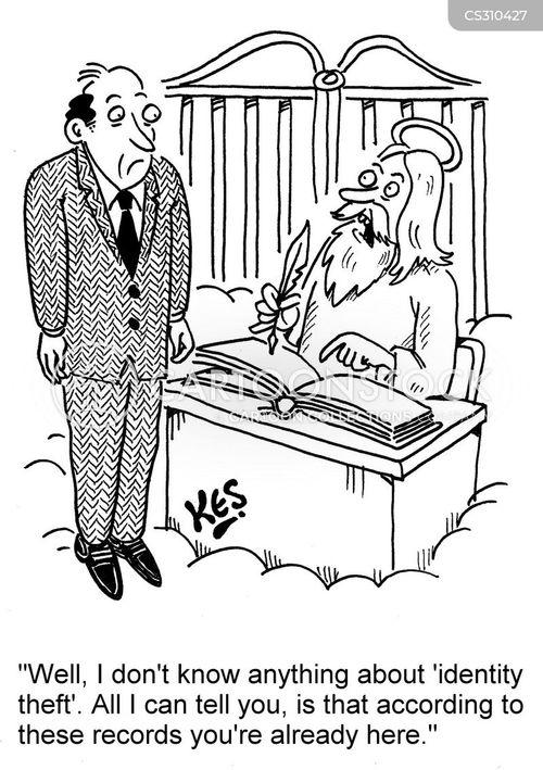 personal banking cartoon