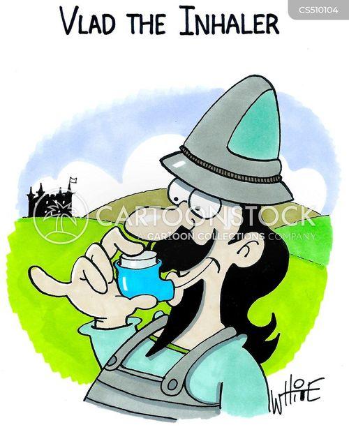 asthmatic cartoon