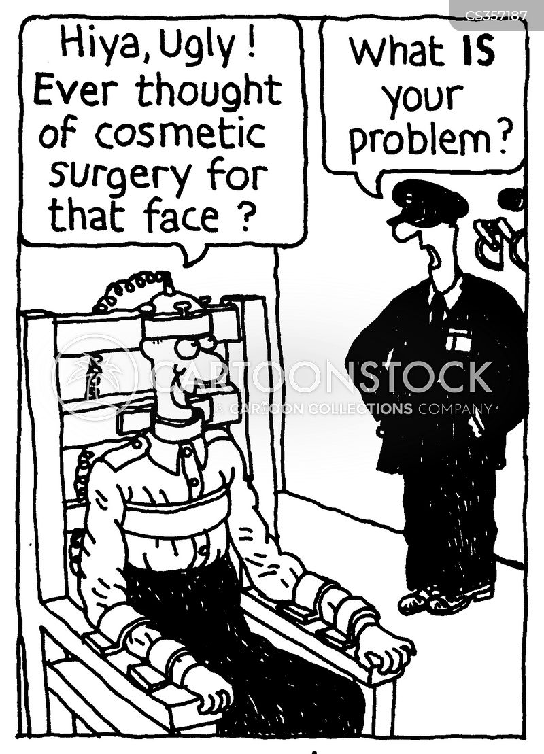 ugly face cartoon