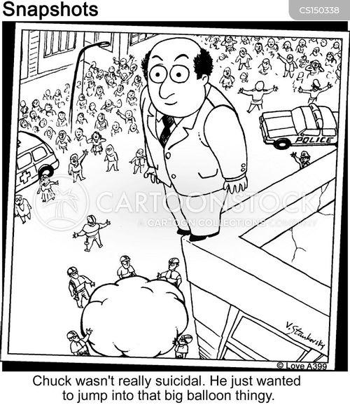 commit suicide cartoon