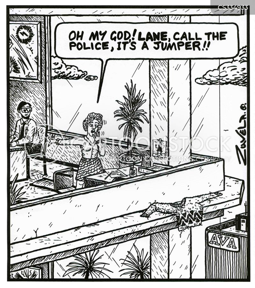 call the police cartoon