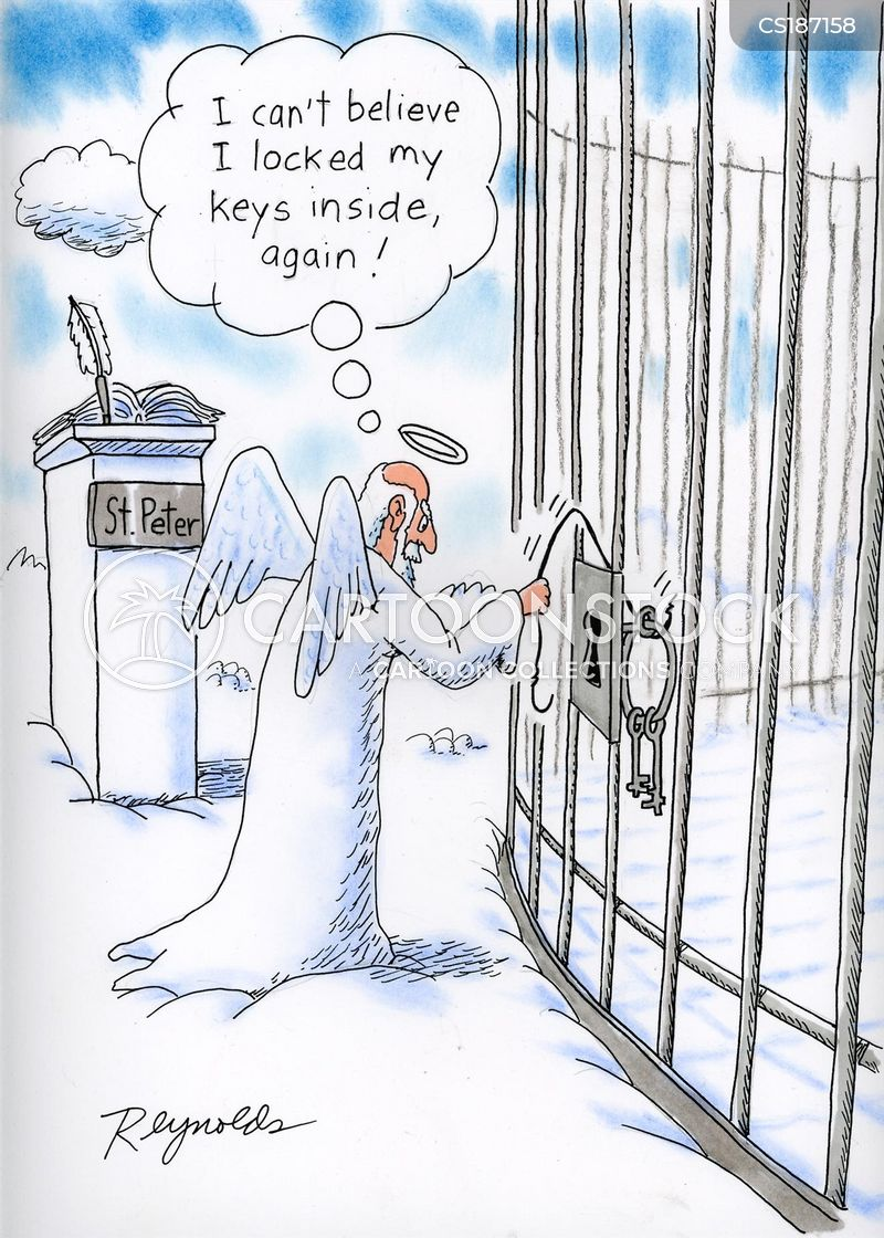 locked out cartoon