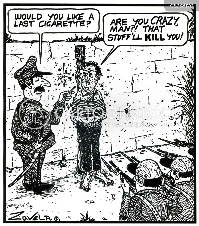 Last Cigarette Cartoons And Comics