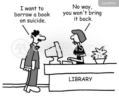 lending libraries cartoon