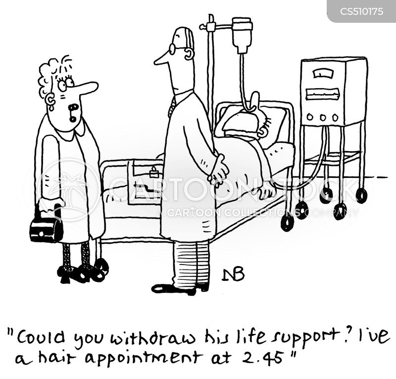 end of life care cartoon