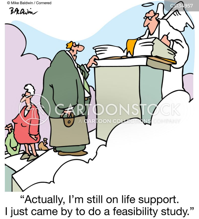 near death experience cartoon