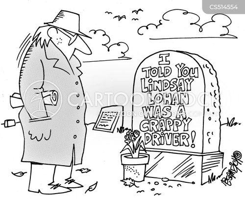 burial plot cartoon