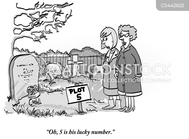 burial plots cartoon