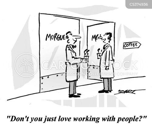 pathologist cartoon