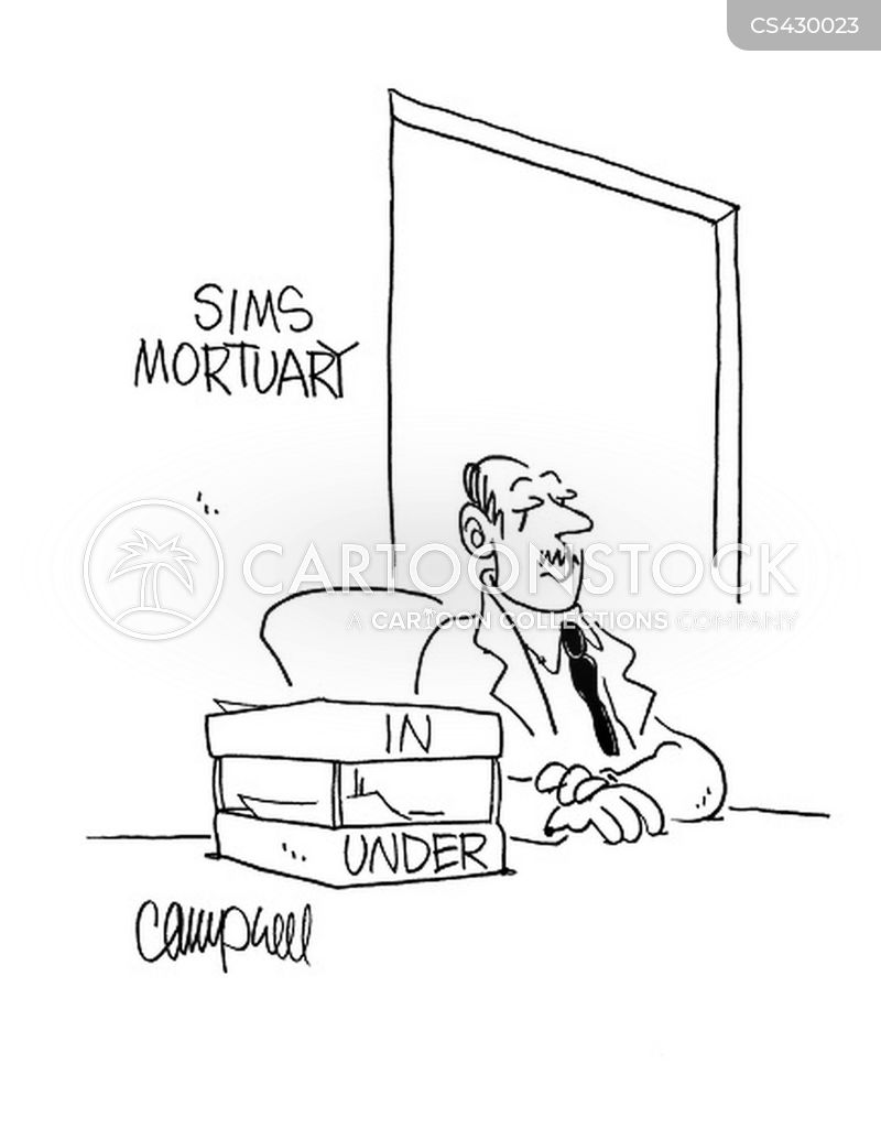 mortician cartoon
