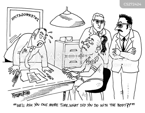 murder investigations cartoon