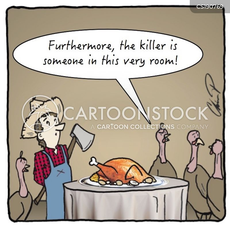 turkey farming cartoon