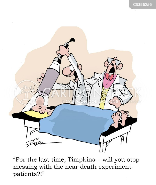 near-death cartoon