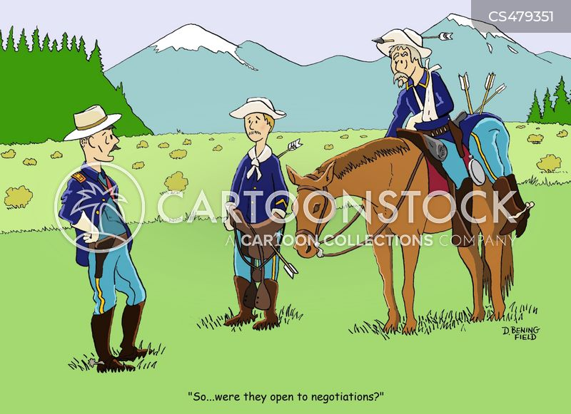 cavalryman cartoon