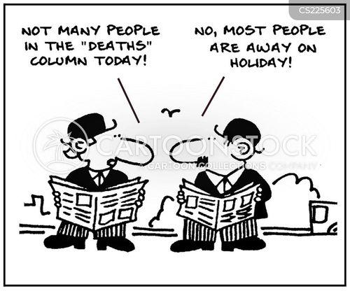 local paper cartoon