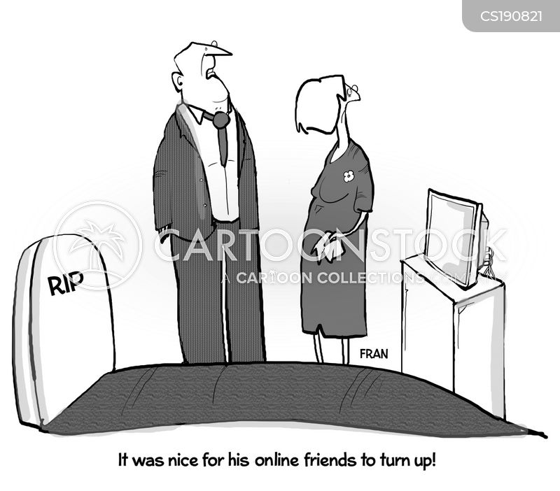 online friend cartoon