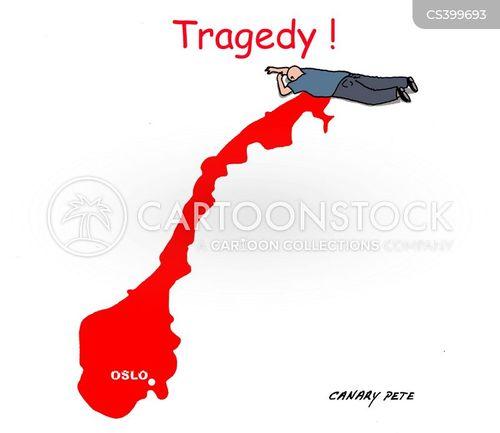 national mourning cartoon