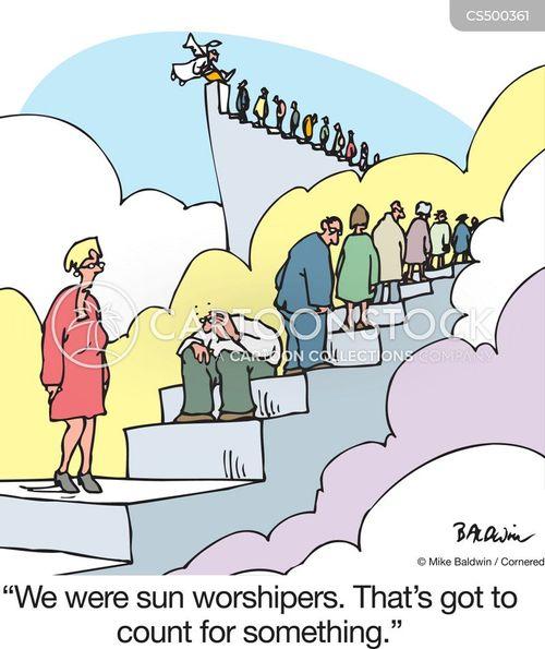 sun worshiper cartoon