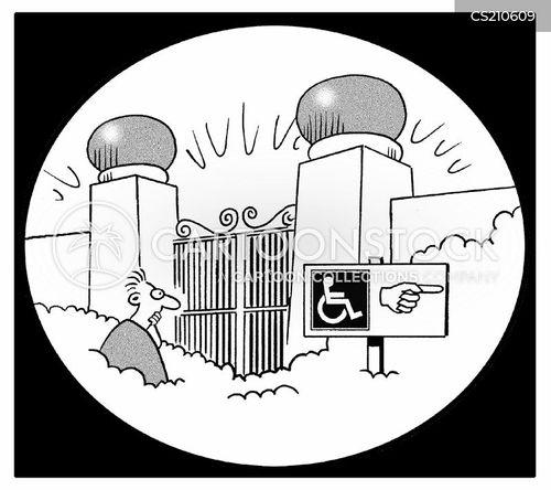handicapped access cartoon