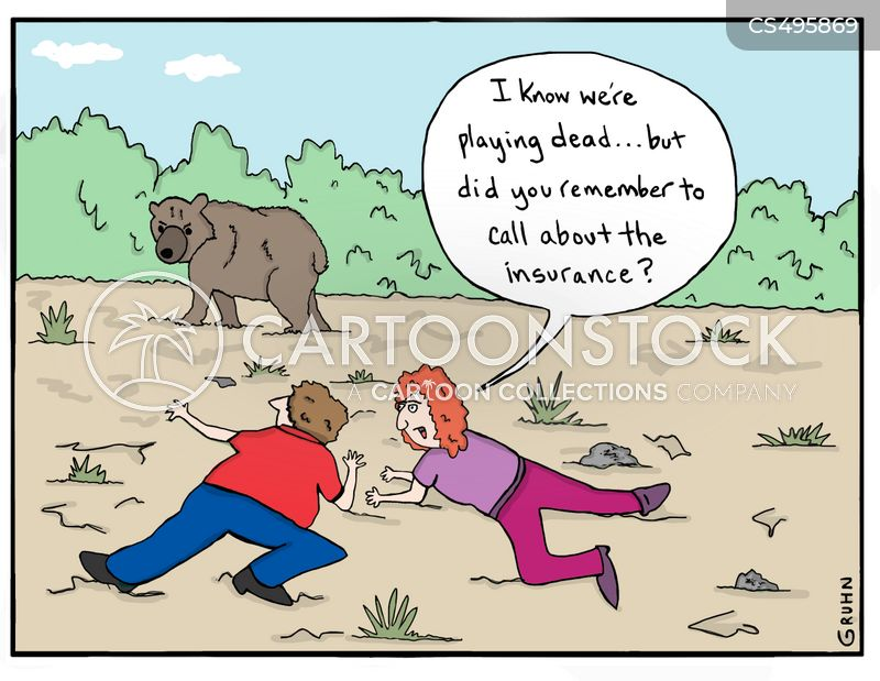 grizzly attack cartoon