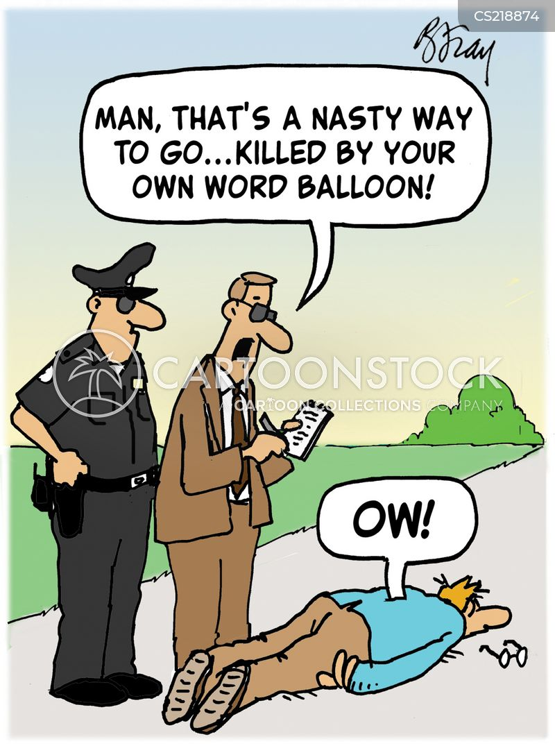 word balloon cartoon