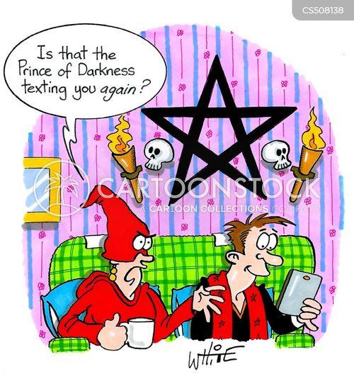 devil worship cartoon