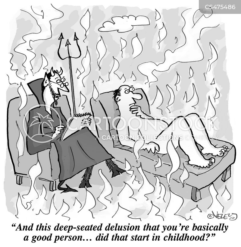 self-deluded cartoon