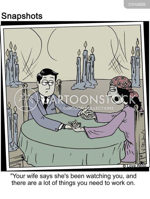 psychic reading cartoon