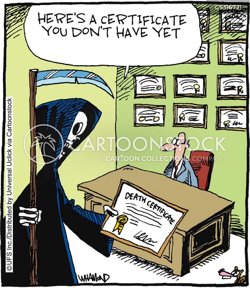 Certificates Cartoons and Comics - funny pictures from CartoonStock